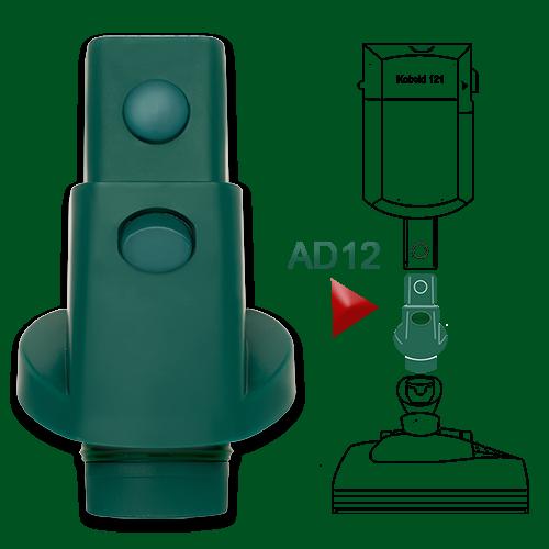 Adapter AD12 passend für Vorwerk Kobold 120 121 122 Tiger 250 251 an EB 350 351